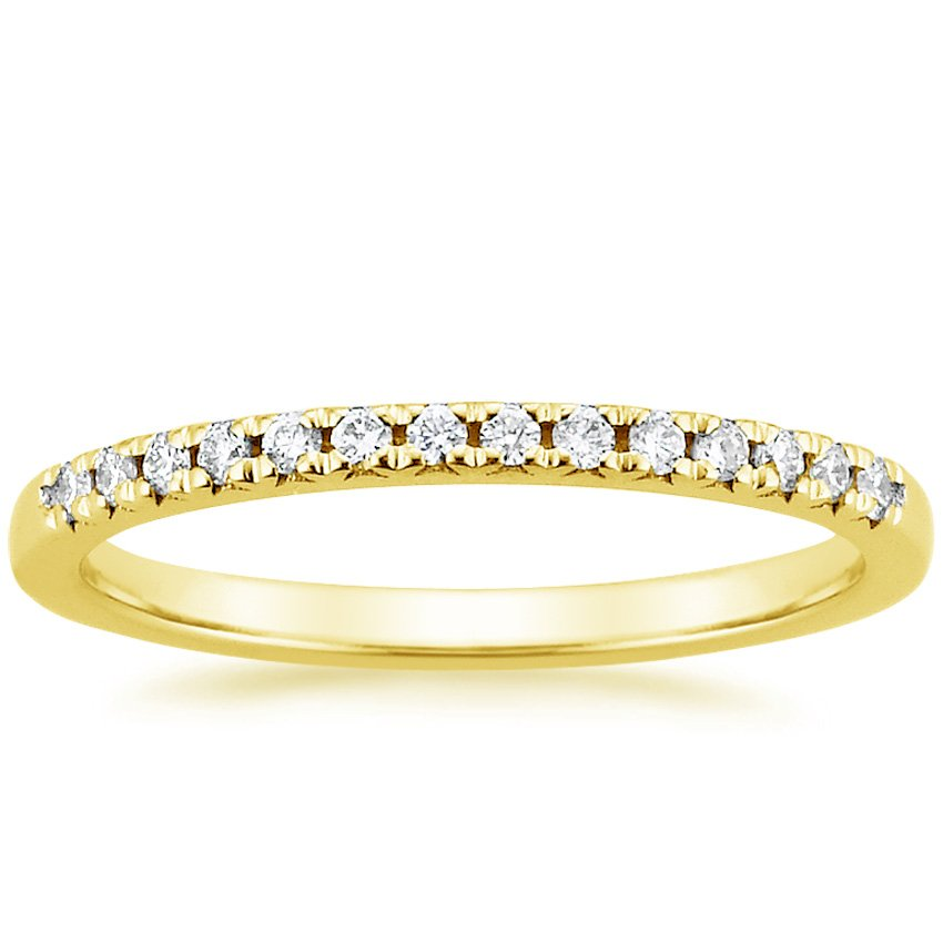 18K Yellow Gold Sonora Diamond Ring, top view