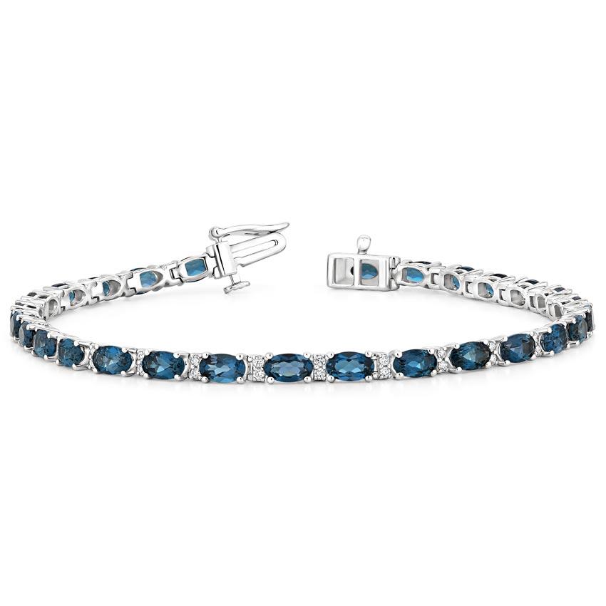 Vermeil Blue TopazAnd Sapphire Bracelet