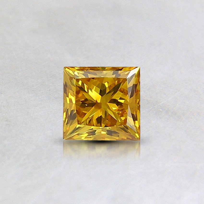 0.32 Ct. Lab Created Fancy Vivid Orangy Yellow Princess Diamond