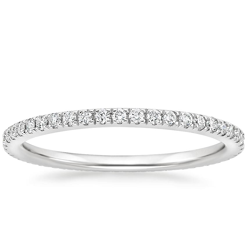 Eternity Scalloped Pavé Wedding Band