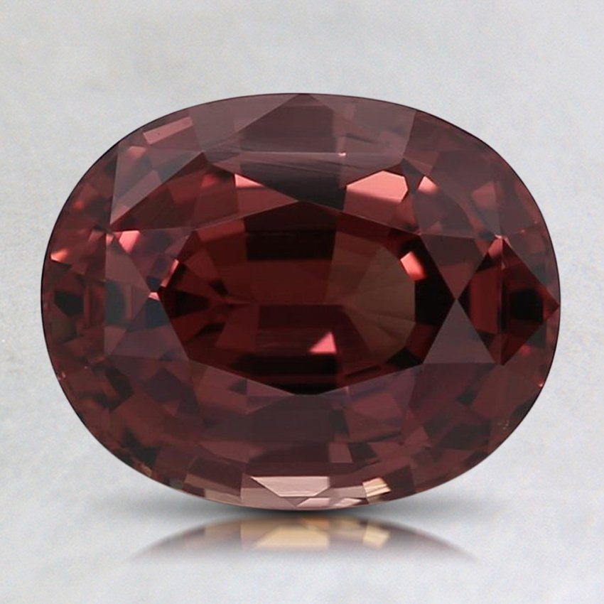 8.6x6.8mm Red Oval Sapphire