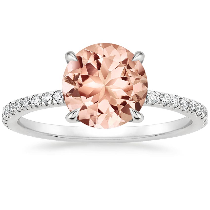 Morganite Viviana Diamond Ring (1/3 ct. tw.) in Platinum