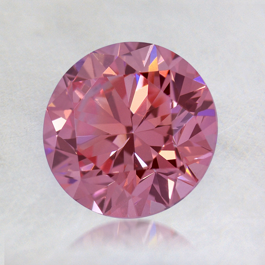 1.30 ct. Lab Created Fancy Deep Pink Round Diamond