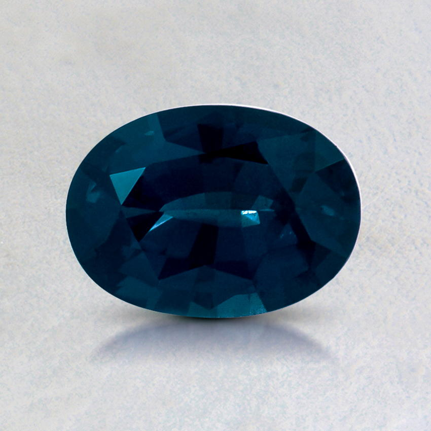 7x5mm Teal Oval Sapphire, top view