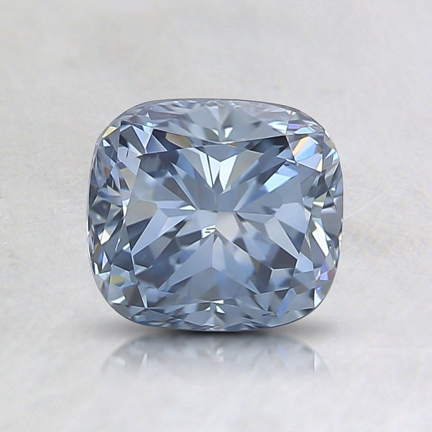 0.94 Ct. Fancy Vivid Blue Cushion Lab Created Diamond