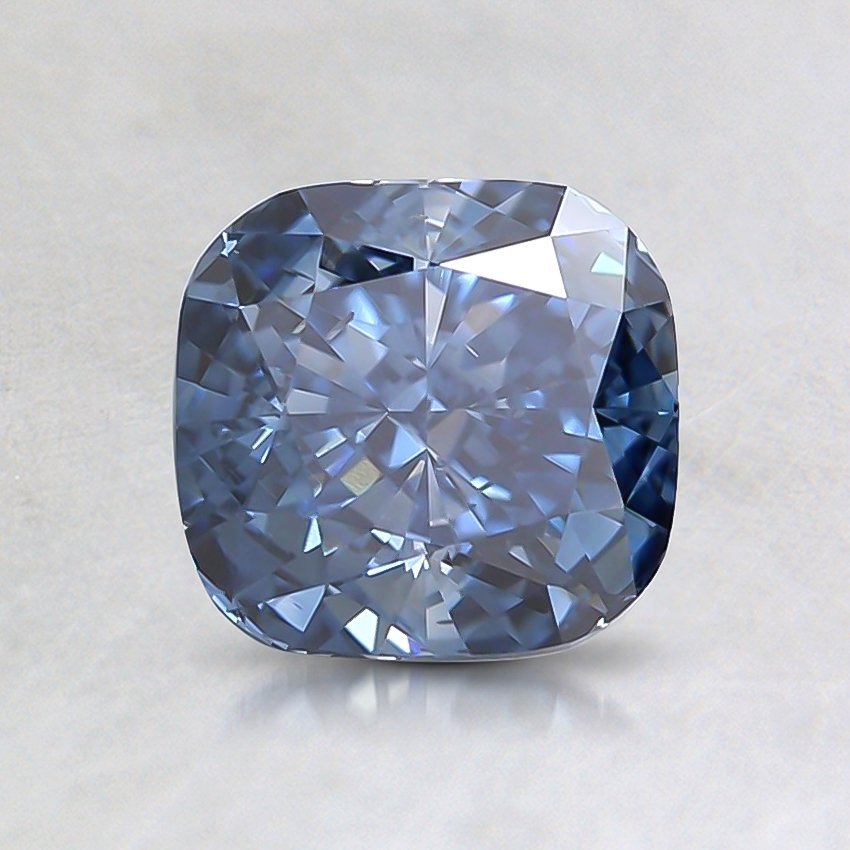 1.23 Ct. Fancy Intense Blue Cushion Lab Created Diamond