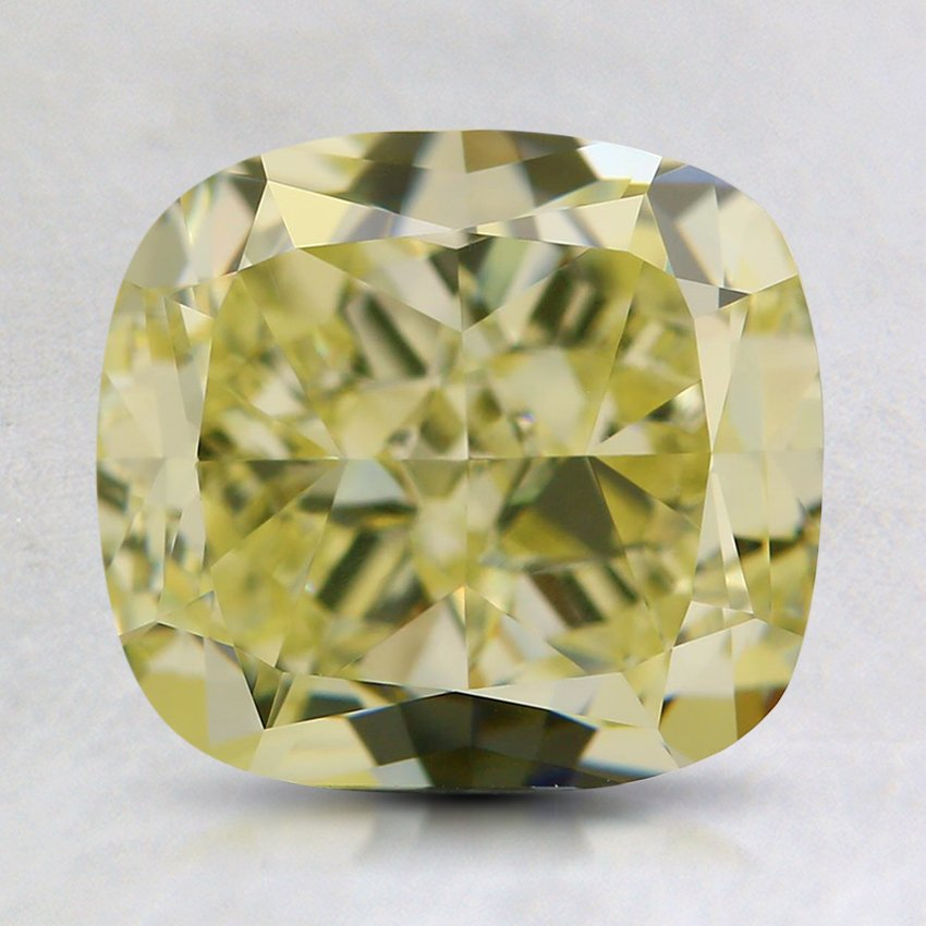 2.05 Ct. Natural Fancy Light Yellow Cushion Diamond