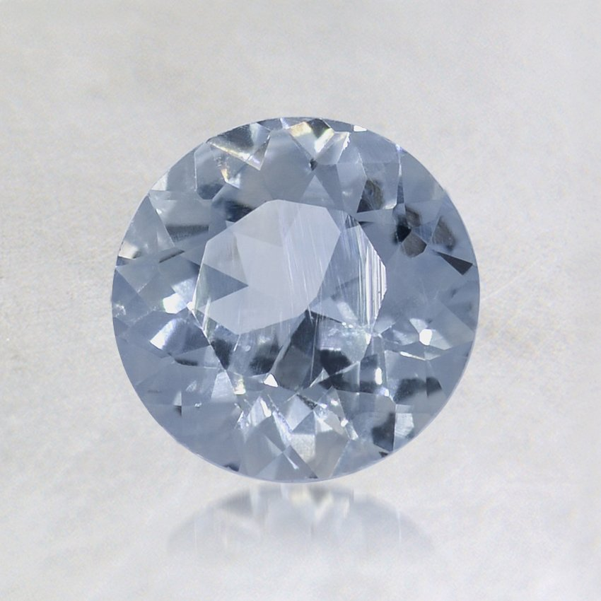 6.3mm Light Blue Round Sapphire, top view