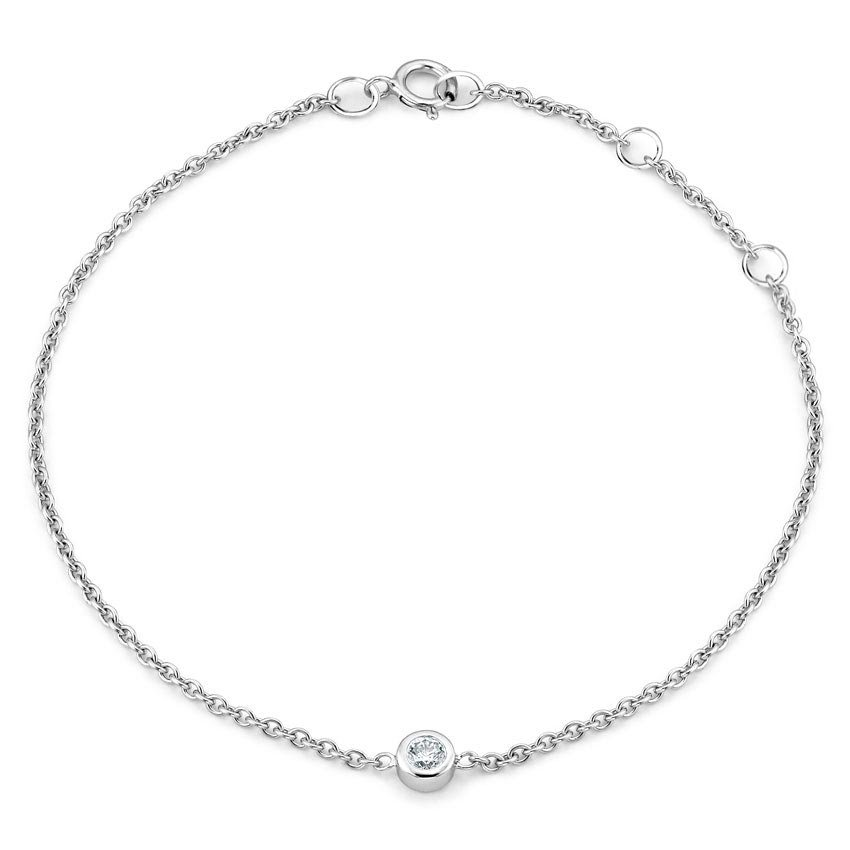 Top Twenty Gifts - SILVER DIAMOND BEZEL BRACELET