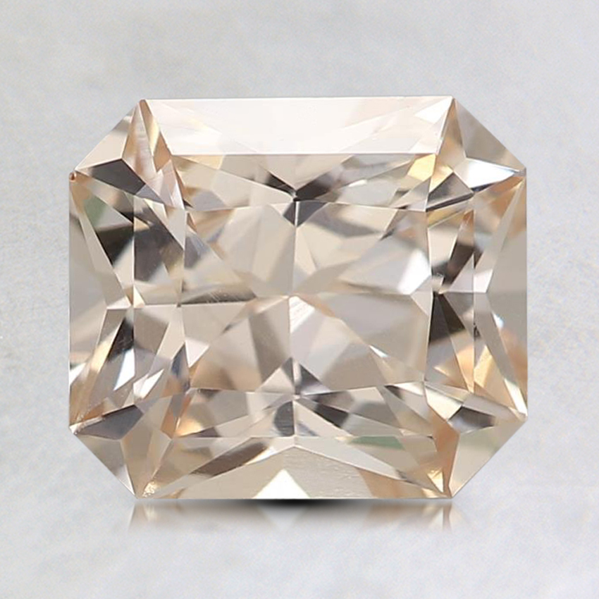 7.8x6.9mm Unheated Peach Radiant Sapphire, top view