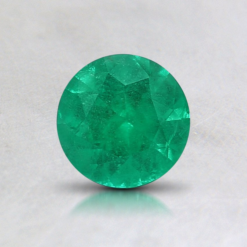5.5mm Round Emerald, top view
