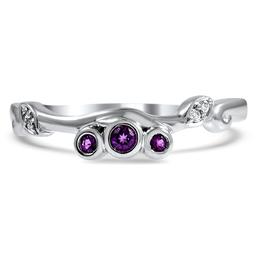 Custom Amethyst Contoured Wedding Ring