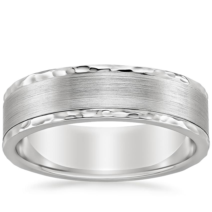 Archer Wedding Ring in Platinum