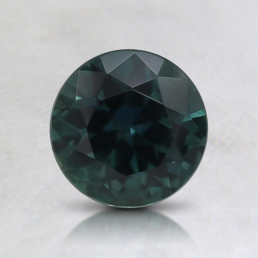 6.4mm Teal Round Montana Sapphire