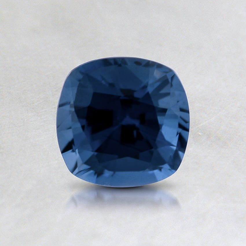 5.5mm Blue Cushion Sapphire, top view