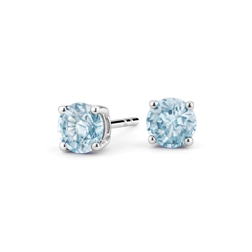 Aquamarine Stud Earrings in Silver