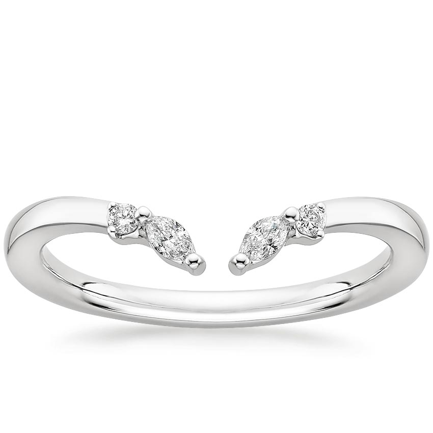 Round and Marquise Diamond Open Ring
