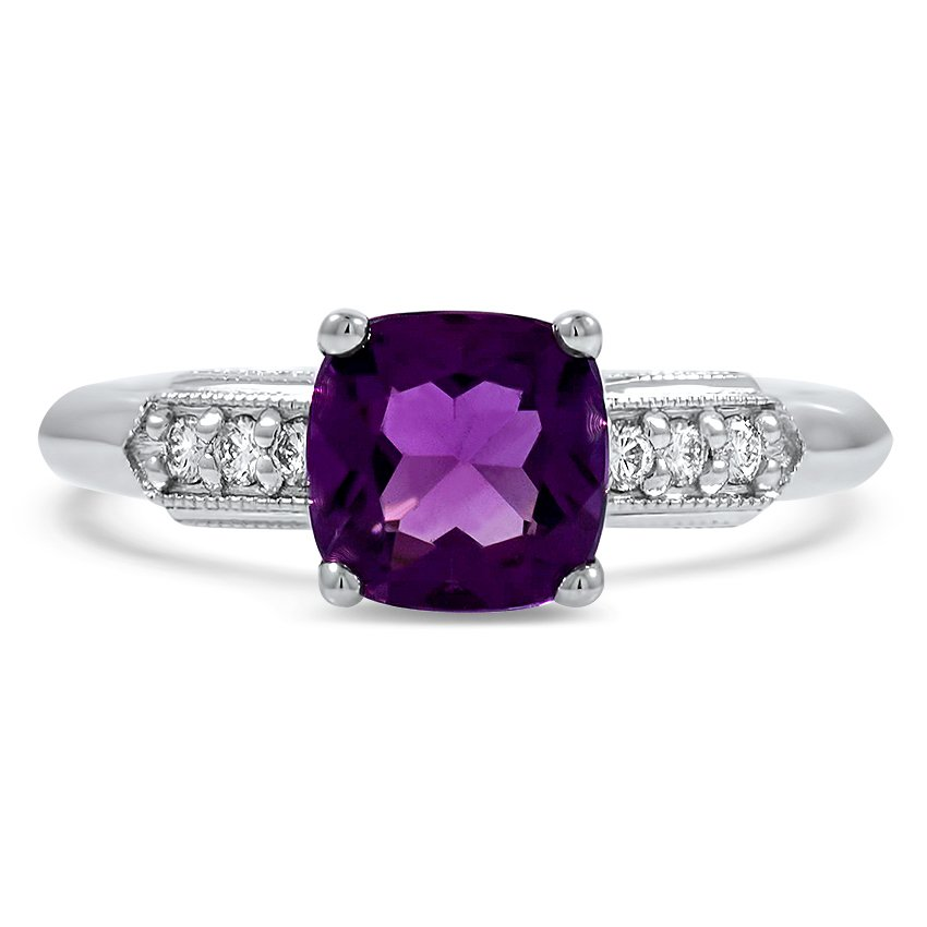 Modern Reproduction Amethyst Vintage Ring