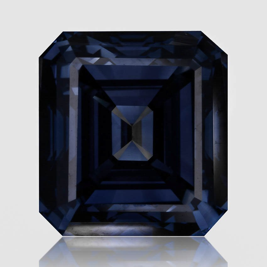 2.02 ct. Lab Created Fancy Deep Blue Emerald Diamond, top view