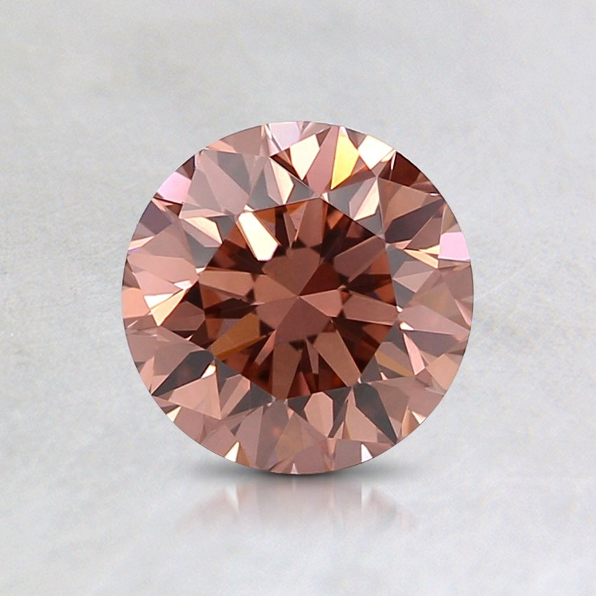 0.83 Ct. Fancy Brownish Pink Round Lab Created Diamond