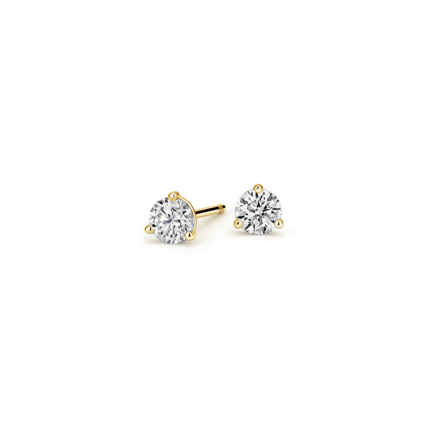 Three-Prong Martini Round Diamond Stud Earrings (1/4 ct. tw.)