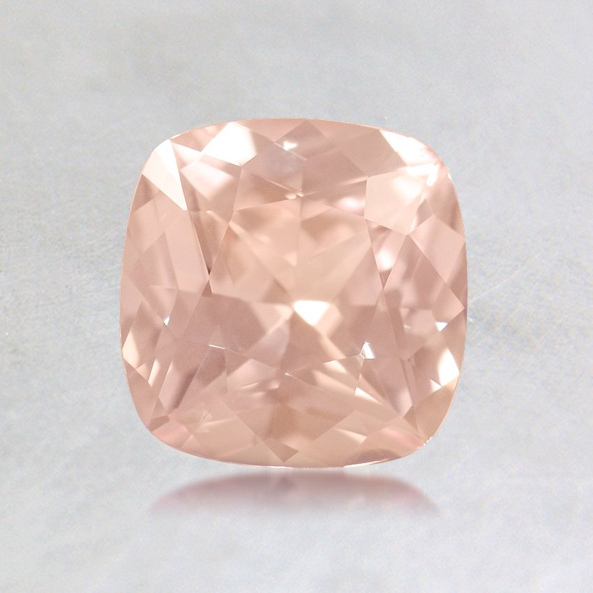 6mm Premium Peach Cushion Sapphire, top view
