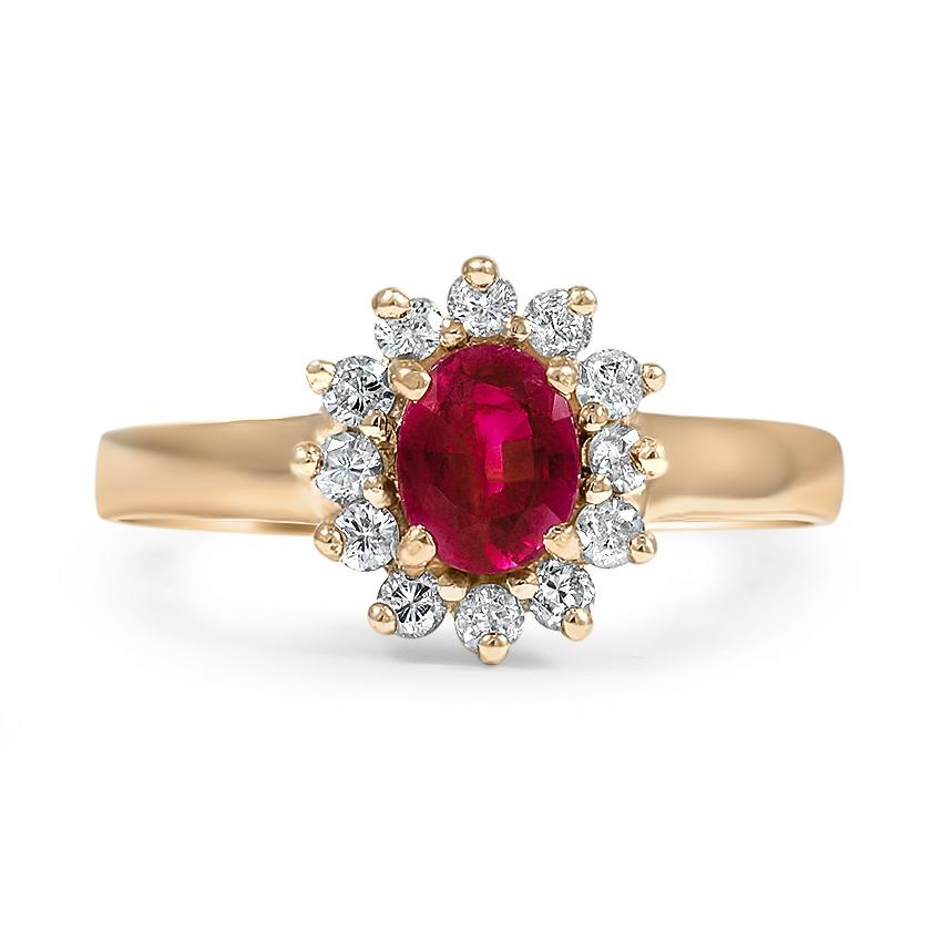 Retro Ruby Vintage Ring