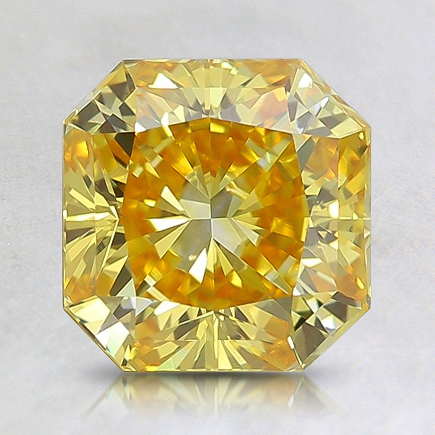 1.27 Ct. Fancy Vivid Orangy Yellow Radiant Lab Created Diamond