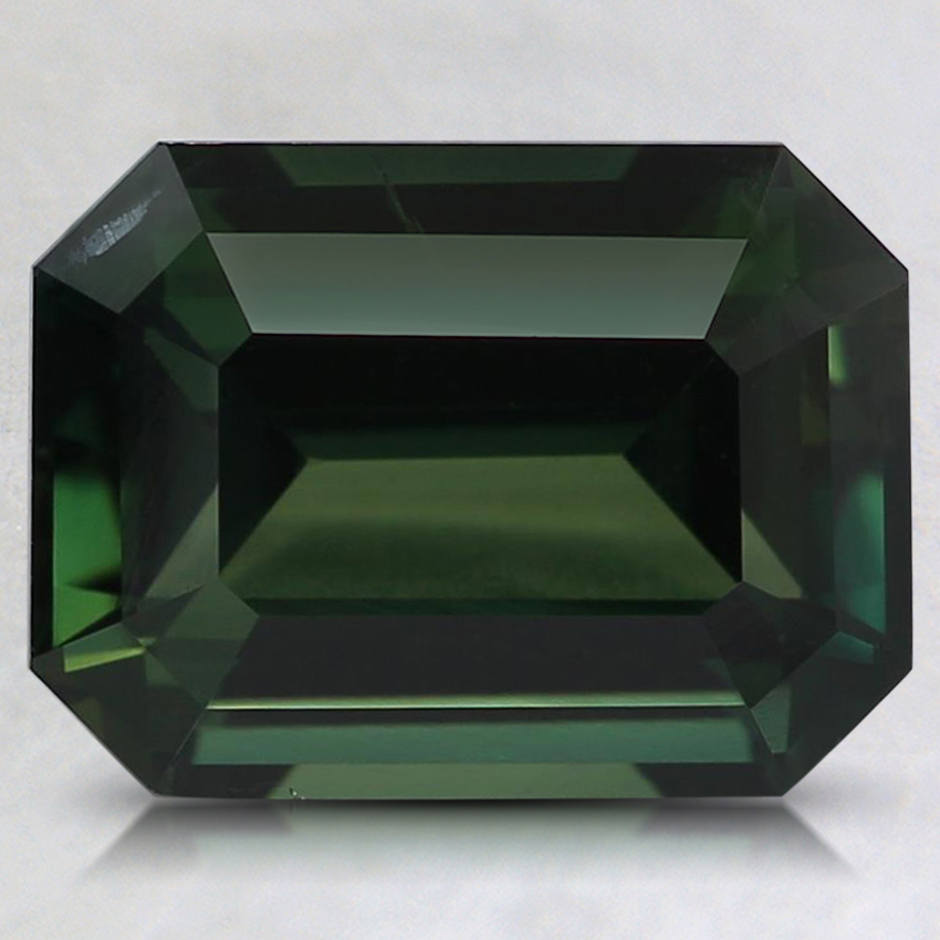 9.5x7.2mm Unheated Teal Emerald Sapphire