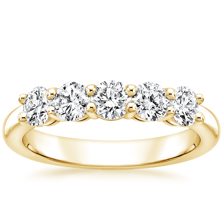 Yellow Gold Round Five Stone Diamond Ring (1 ct. tw.)