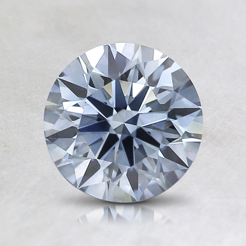1.05 ct. Lab Created Fancy Intense Blue Round Diamond, top view