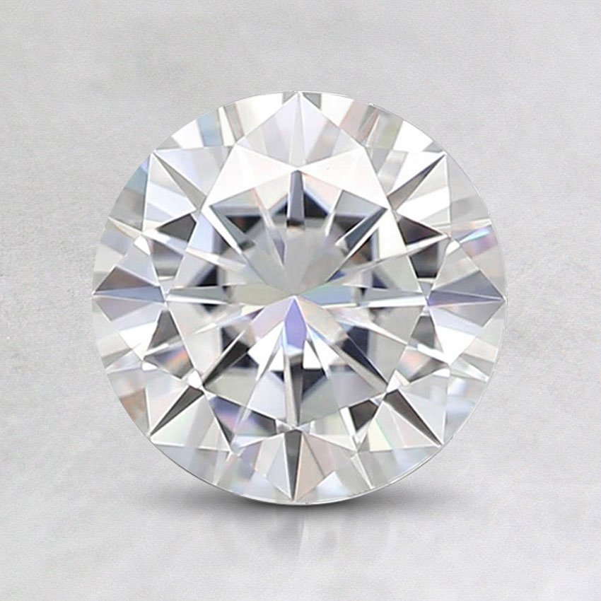 7mm Super Premium Round Moissanite, top view