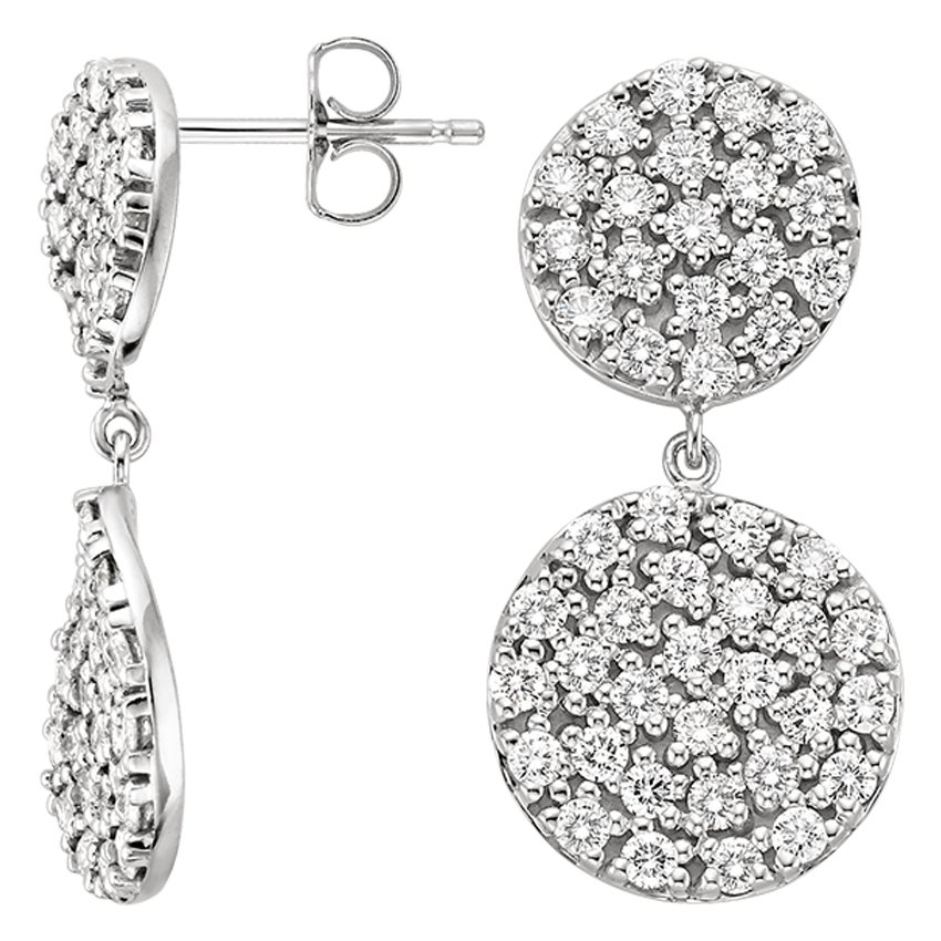 Luxe Pavé Diamond Wave Earrings (1 3/4 ct. tw.) in 18K White Gold