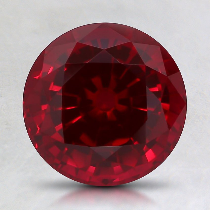 8mm Round Lab Created Ruby