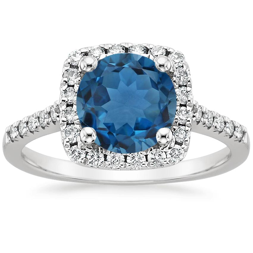 London Blue Topaz Odessa Ring (1/4 ct. tw.) in 18K White Gold