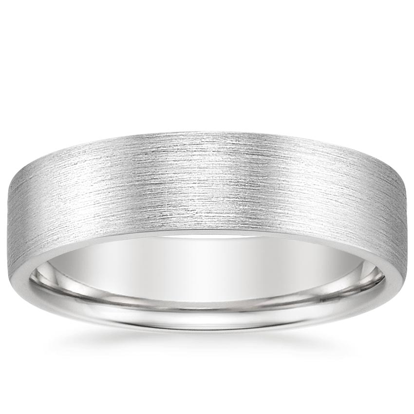 Top Twenty Men's Wedding Rings  - 6MM MOJAVE MATTE WEDDING RING