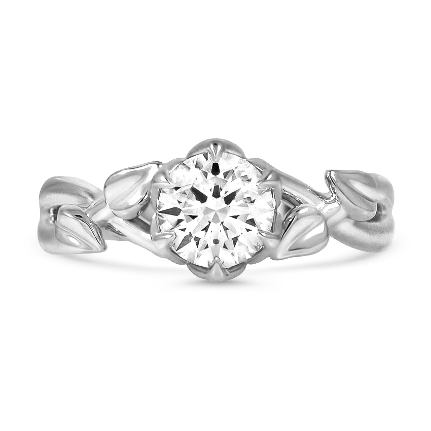 Custom Entwined Branch Diamond Ring
