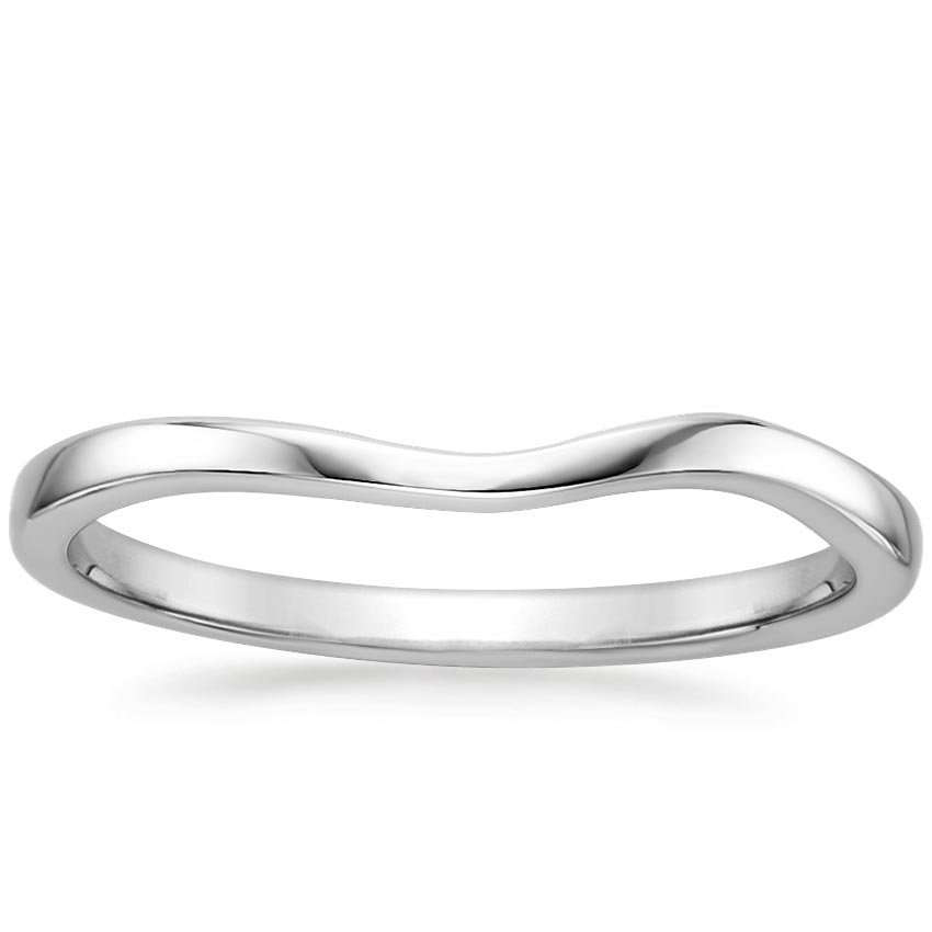 Grace Contoured Ring in Platinum