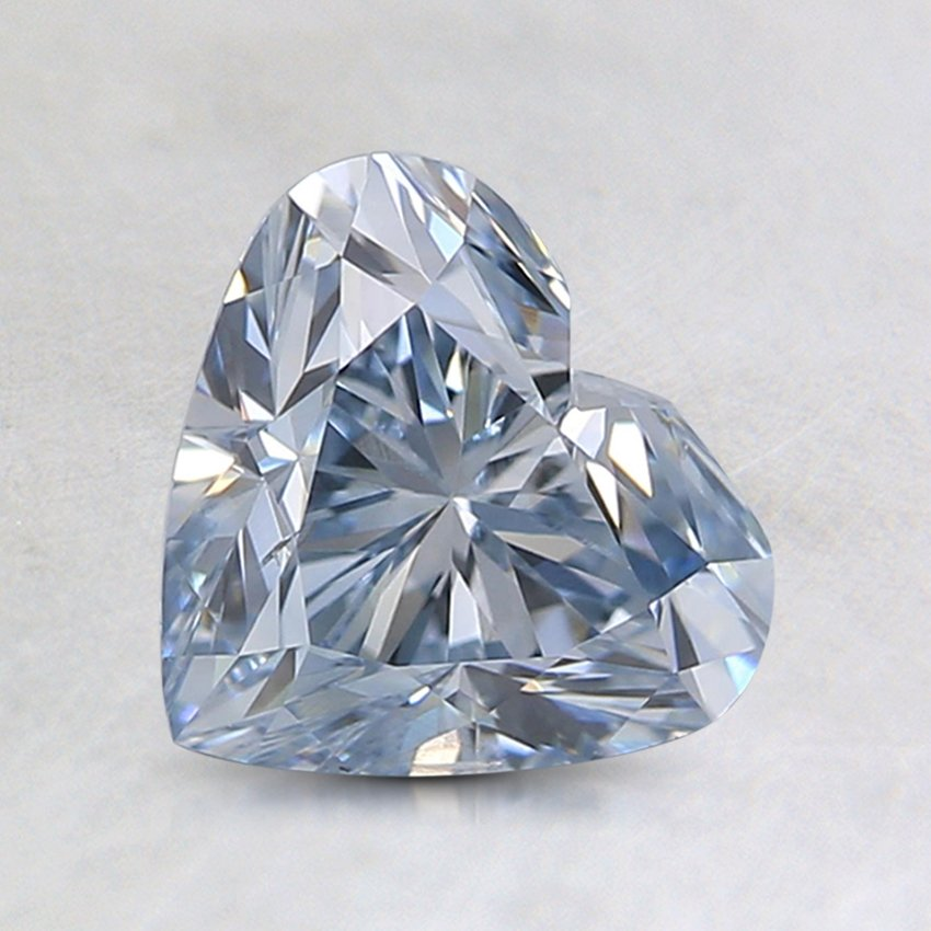 0.91 Ct. Lab Created Blue Heart Diamond