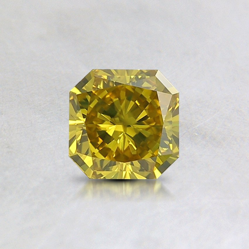 0.42 Ct. Lab Created Fancy Intense Yellow Radiant  Diamond