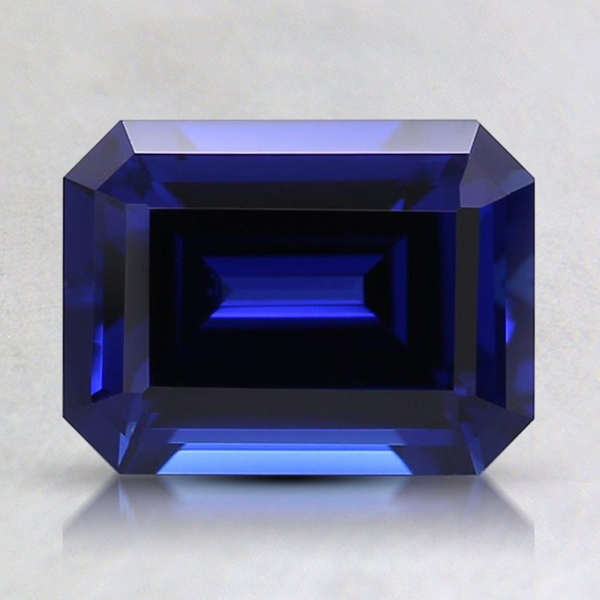 8x6mm Blue Emerald Lab Created Sapphire