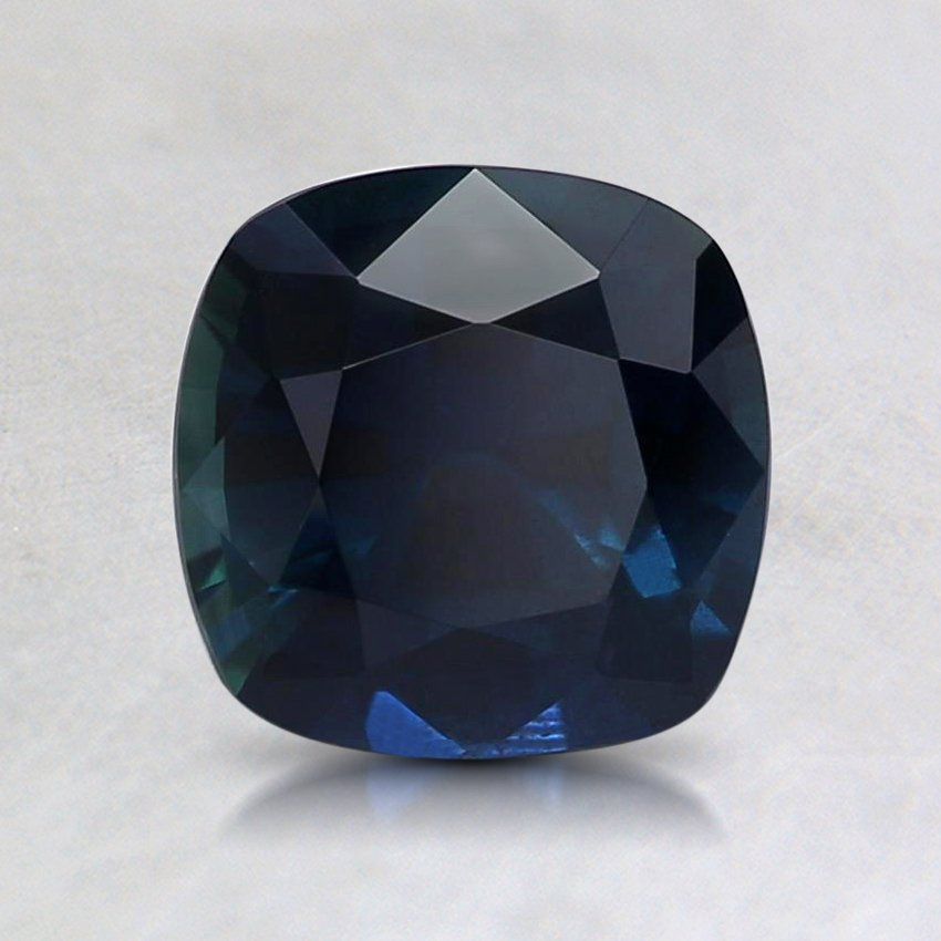 6.5mm Premium Blue Cushion Sapphire, top view