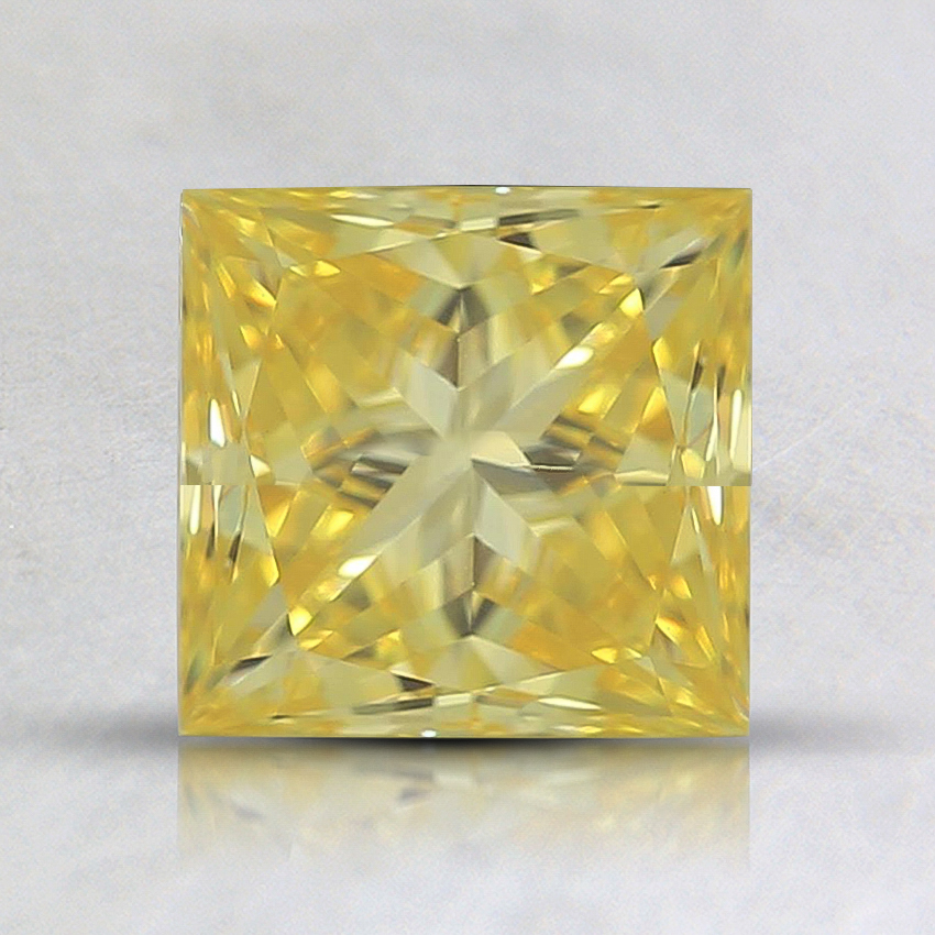 1.43 Ct. Fancy Intense Yellow Princess Lab Created Diamond