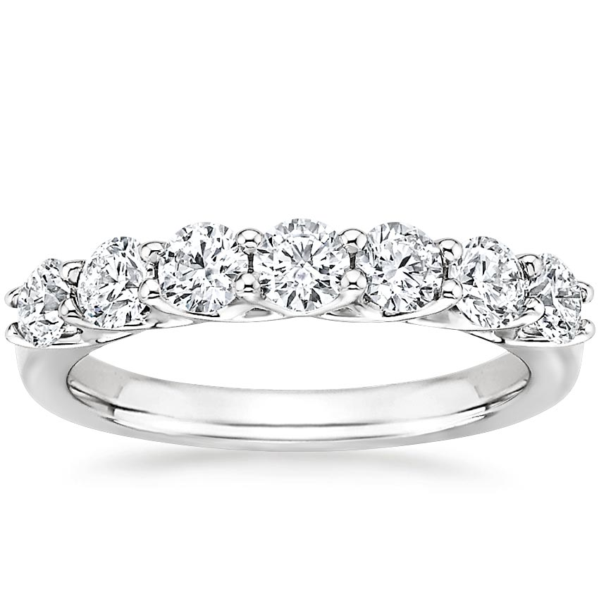 Signature Seven Stone Trellis Diamond Ring (7/8 ct. tw.) in 18K White Gold