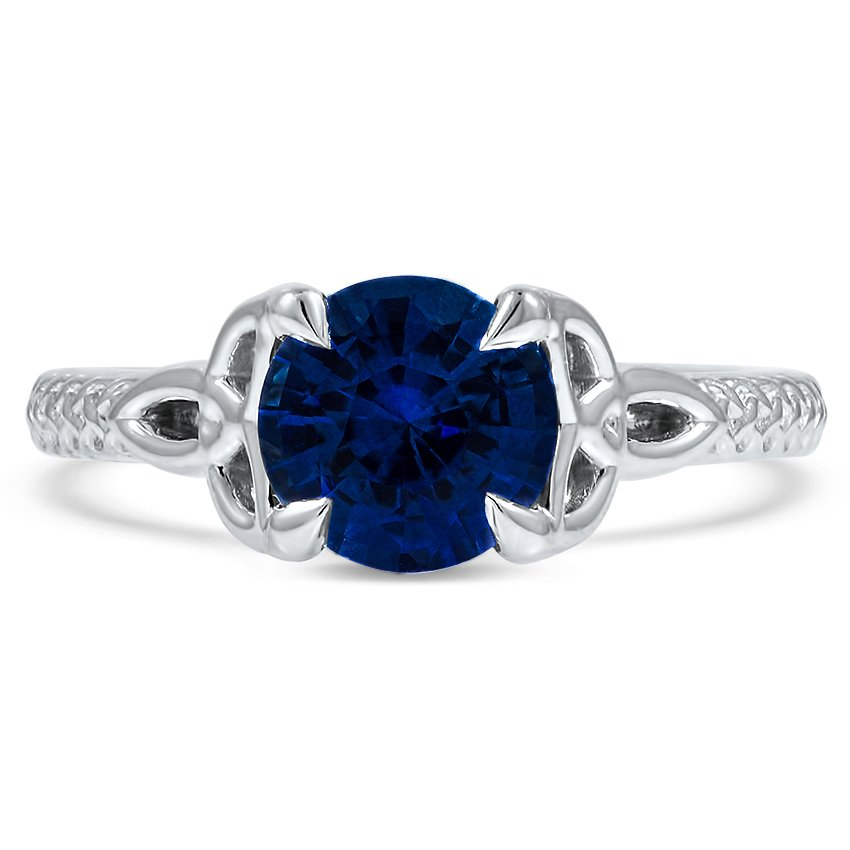 Custom Celtic Inspired Sapphire Engagement Ring