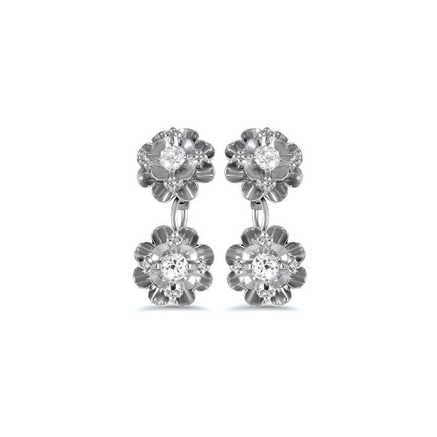 The Brokeshire Earrings, top view