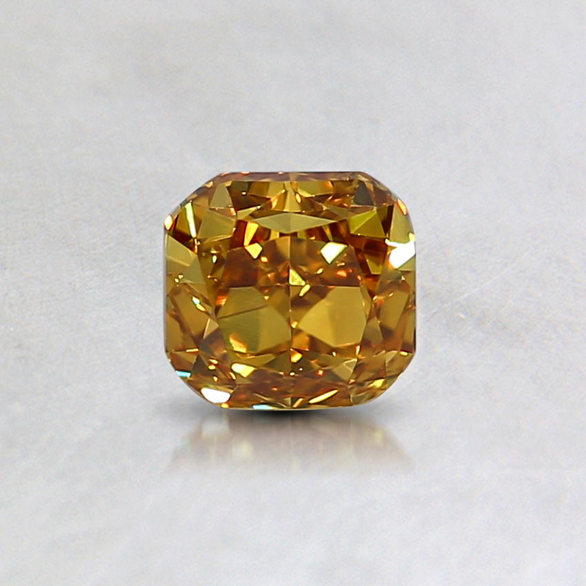 0.44 Ct. Natural Fancy Deep Yellow Cushion Diamond
