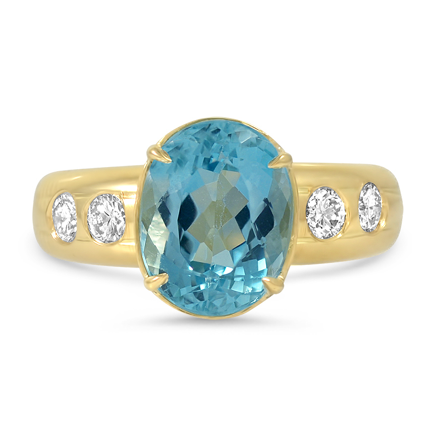 Modern Aquamarine Cocktail Ring