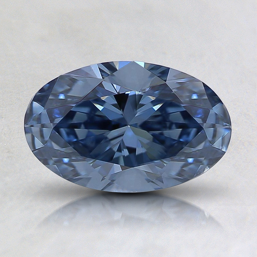 0.80 Ct. Fancy Blue Oval Lab Created Diamond