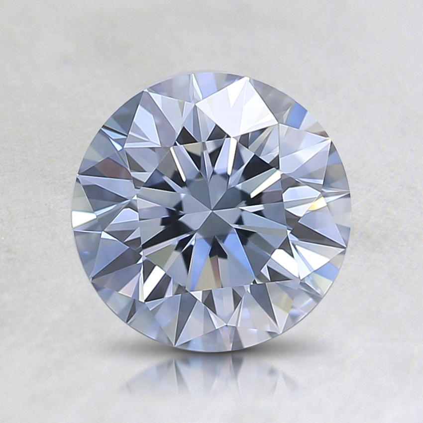1.11 Ct. Lab Created Fancy Blue Round Diamond
